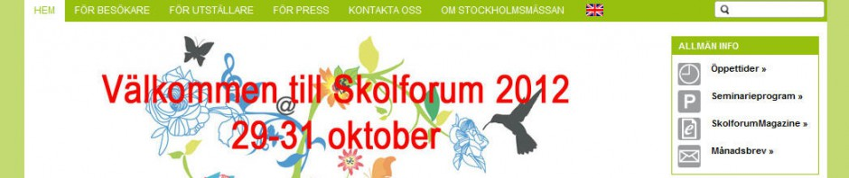 Visit the skolforum 2012 and get inspired!